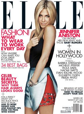 Jennifer Aniston, Elle Cover