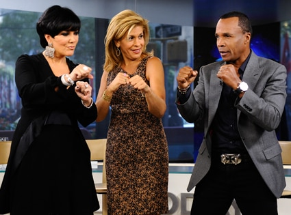 Kris Jenner, Hoda Kotb, Sugar Ray Leonard, The Today Show