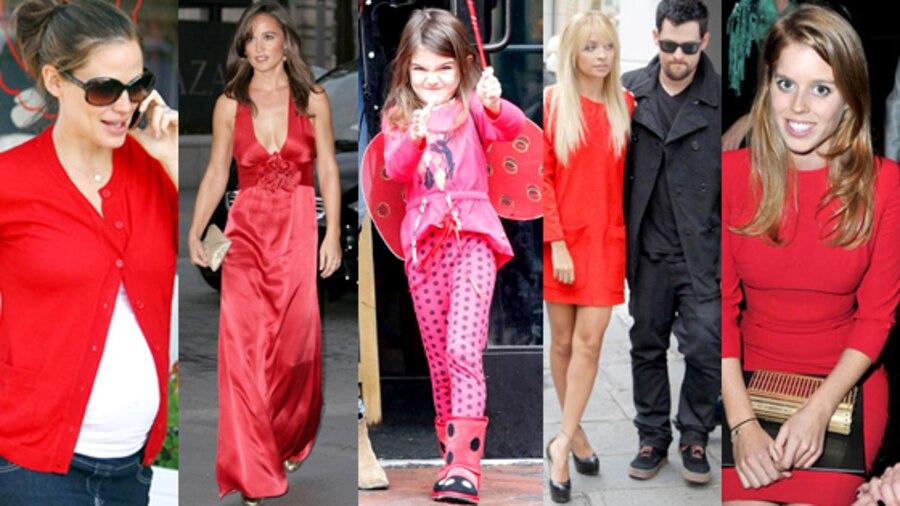 Jennifer Garner, Pippa Middleton, Suri Cruise, Nicole Richie, Joel Madden, Beatrice