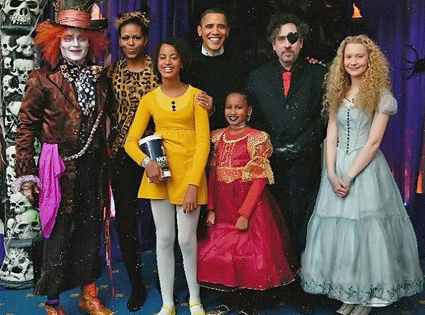 Barack Obama, Michelle Obama, Johnny Depp, Mia Wasikowska, Tim Burton