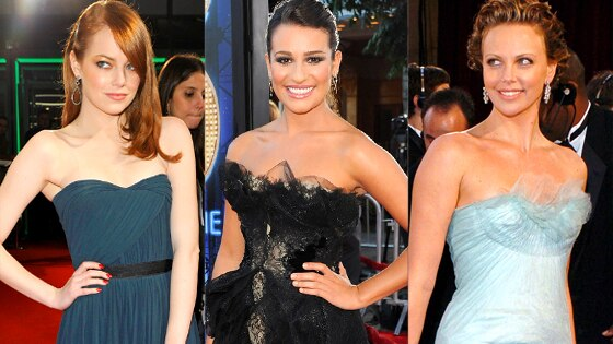 Emma Stone, Lea Michele, Charlize Theron