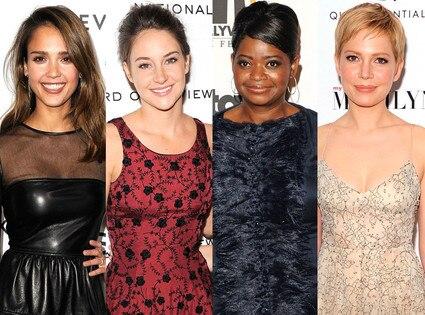 Michelle Williams, Jessica Alba, Octavia Spencer, Shailene Woodley