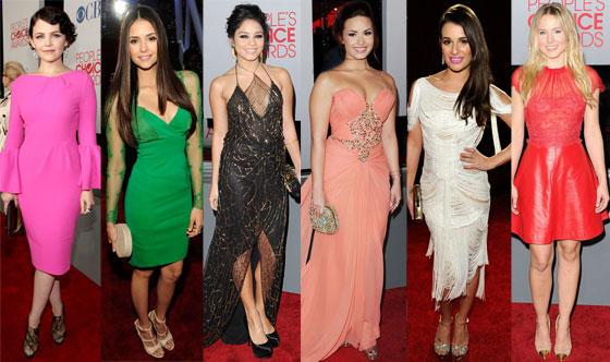 Nina Dobrev, Demi Lovato, Lia Michele, Kristen Bell, Vanessa Hudgens, Ginnifer Goodwin