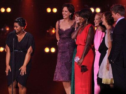 Octavia Spencer, Allison Janney, Emma Stone, Viola Davis, Jessica Chastain, Cicely Tyson, Ahna O'Reilly,Chris Lowell