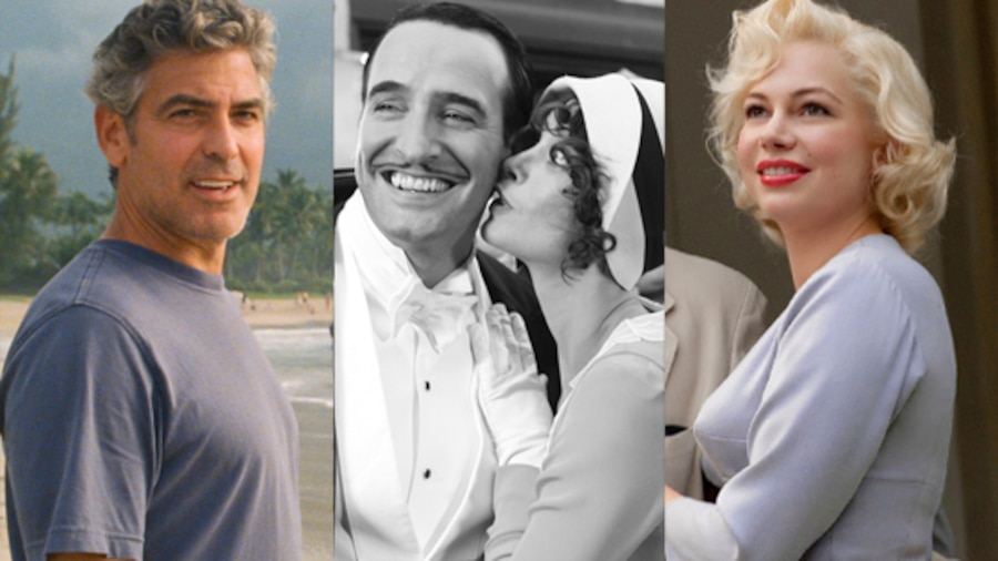 The Descendants,The Artist, My Week With Marilyn,