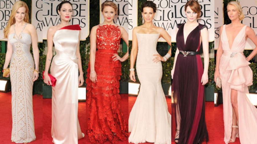 best dressed, golden globes, 2012