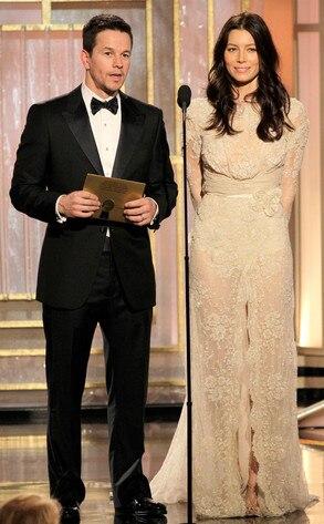 Mark Wahlberg, Jessica Biel, Golden Globes