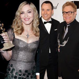 Madonna, Elton John, David Furnish