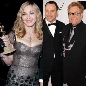 Madonna, Elton John, David Furnish