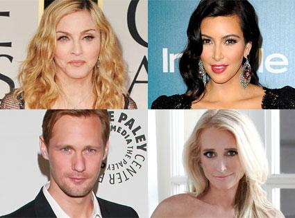 Kim Richards, Madonna, Kim Kardashian, Alexander Skarsgard