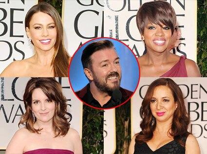 Sofia Vergara, Viola Davis, Maya Rudolph, Tina Fey, Ricky Gervais