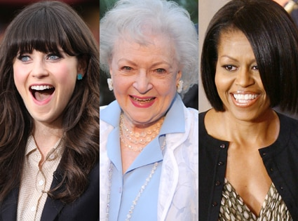 Zooey Deschanel, Betty White, Michelle Obama