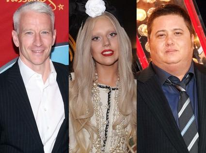 Anderson Cooper, Lady Gaga, Chaz Bono
