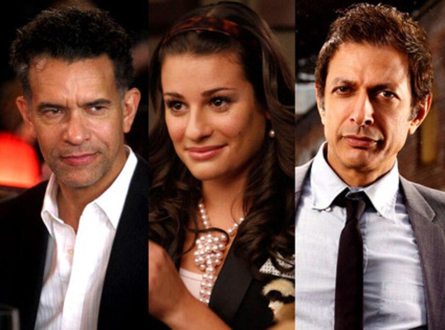 Lea Michele, Jeff Goldblum, Brian Stokes Mitchell