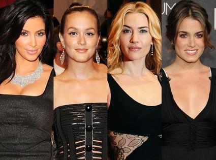 Kate Winslet, Nikki Reed, Leighton Meester, Kim Kardashian