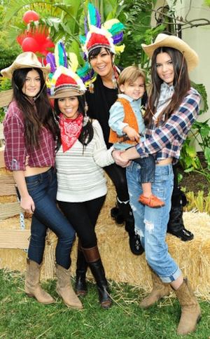 Mason Disick, Kourtney Kardashian, Kris Jenner, Kylie Jenner, Kendall Jenner, 2nd Birthday Party