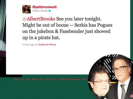 Patton Oswalt, Alberts Brooks, Twitter