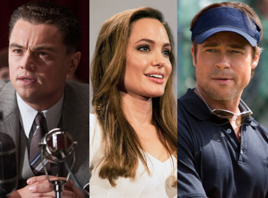 Brad Pitt, Moneyball, Leonardo DiCaprio, J. Edgar
