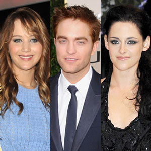 Jennifer Lawrence, Robert Pattinson, Kristen Stewart