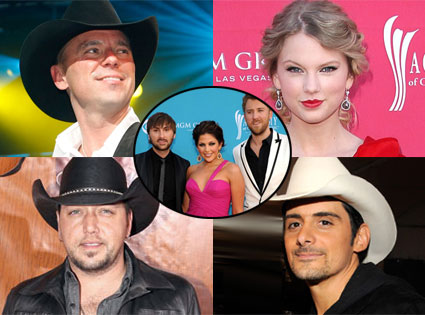 Jason Aldean, Lady Antebellum, Kenny Chesney, Taylor Swift