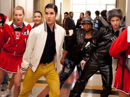 Heather Morris, Darren Criss, Naya Rivera, Amber Riley, Chris Colfer, Glee
