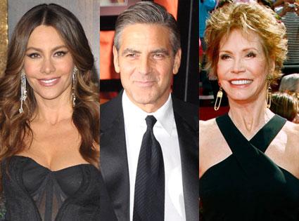 Mary Tyler Moore, George Clooney, Sofia Vergara