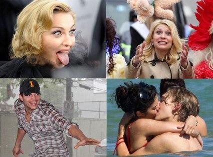 Madonna, Claire Danes, Ashton Kutcher, Vanessa Hudgens
