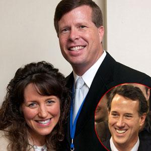 Jim Bob Duggar, Michelle Duggar, Rick Santorum