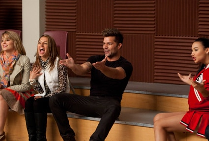 Dianna Agron, Ricky Martin, Naya Rivera, Glee