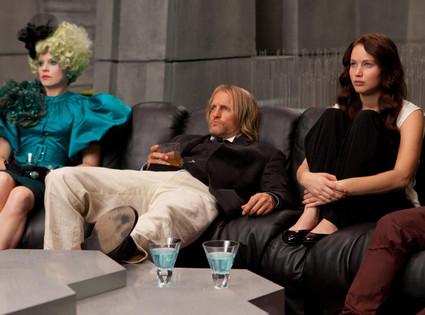 The Hunger Games, Jennifer Lawrence, Woody Harrelson, Elizabeth Banks