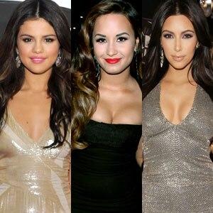 Demi Lovato, Selena Gomez, Kim Kardashian