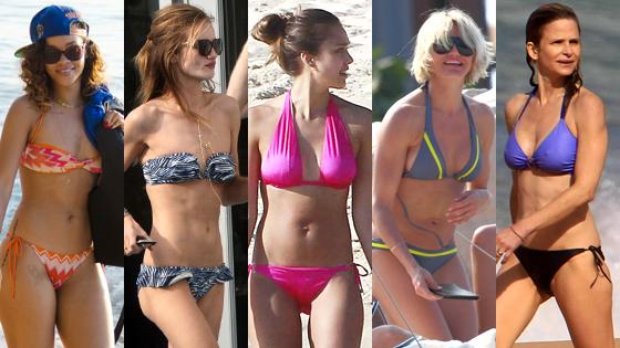 Cameron Diaz, Kyra Sedgwick, Jessica Alba, Rosie Huntington-Whiteley, Rihanna