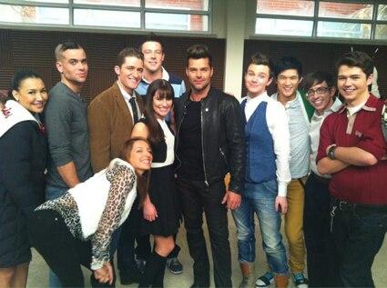 Ricky Martin, Glee, Twitter
