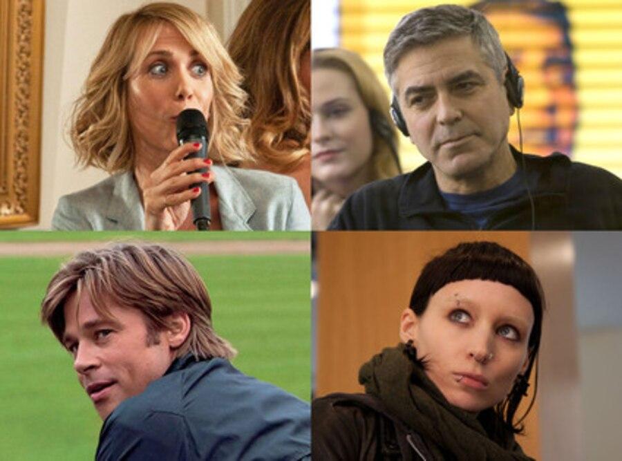Kristin Wiig, Bridesmaids, Rooney Mara, Dragon Tattoo, Brad Pitt, Moneyball, George Clooney in Ides of March