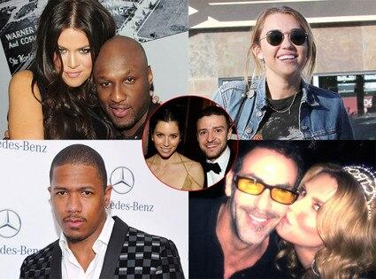 Lamar Odom, Khloe Kardashian, Miley Cyrus, Brandi Glanville, Darin Harvey, Justin Timberlake, Jessica Biel, Nick Cannon