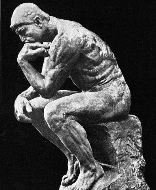 The Thinker Tebowing 550X667
