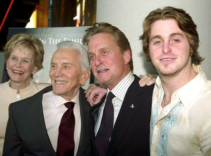 Diana Douglas, Kirk Douglas, Michael Douglas, Cameron Douglas