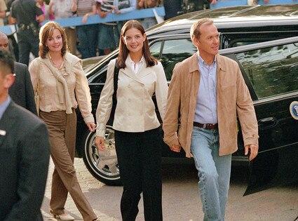 Michael Keaton, Katie Holmes, First Daughter