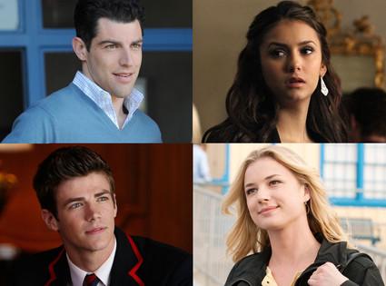 The Vampire Diaries, Nina Dobrev, New Girl, Max Greenfield, Revenge, Emily VanCamp, Glee, Grant Gusti