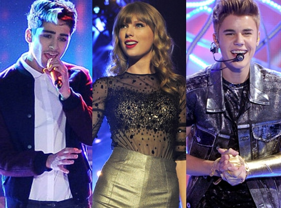 One Direction,Taylor Swift, Justin Bieber