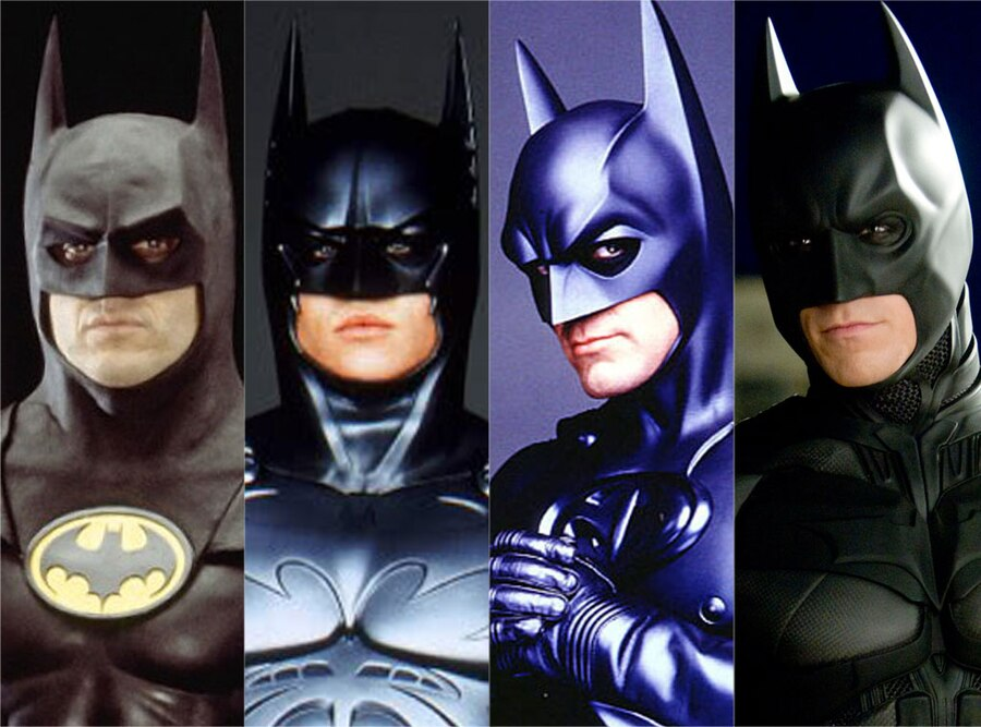 Michael Keaton, Val Kilmer, George Clooney, Christian Bale, Batman