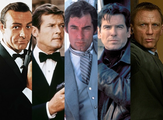 Sean Connery, Roger Moore, Timothy Dalton, Pierce Brosnan, Daniel Craig, James Bond