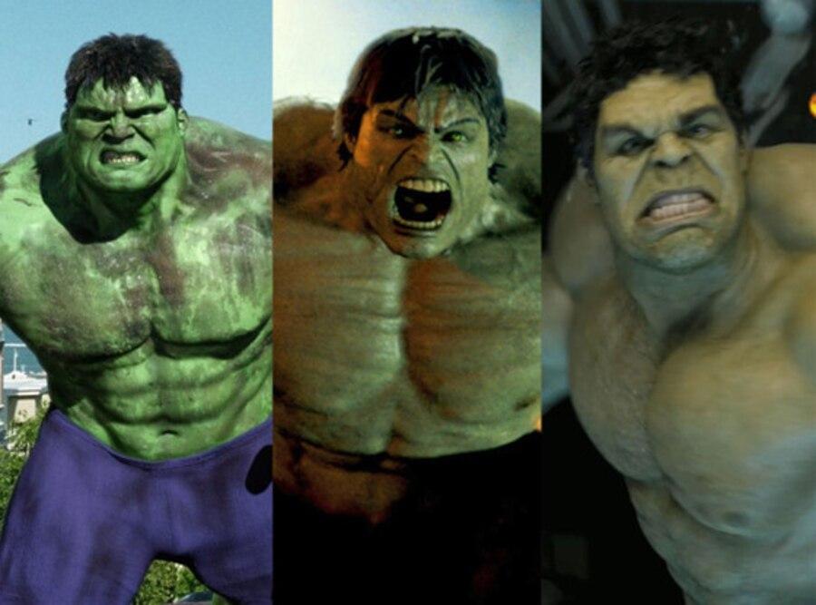 Eric Bana, Ed Norton, Mark Ruffalo, Hulks