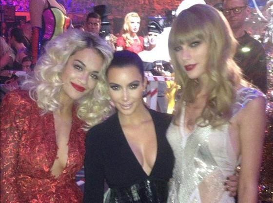 Kim Kardashian, Rita Ora, Taylor Swift, Twit Pic
