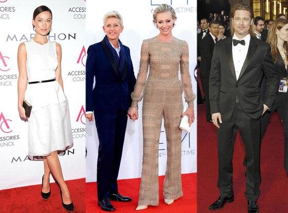 Olivia Wilde, Ellen DeGeneres, Portia de Rossi, Brad Pitt