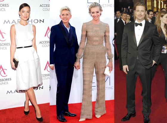 Olivia Wilde Ellen DeGeneres Portia De Rossi Brad Pitt