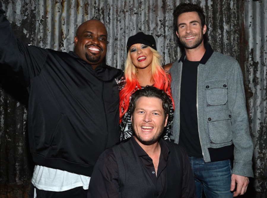 CeeLo Green, Christina Aguilera, Blake Shelton, Adam Levine, The Voice Judges