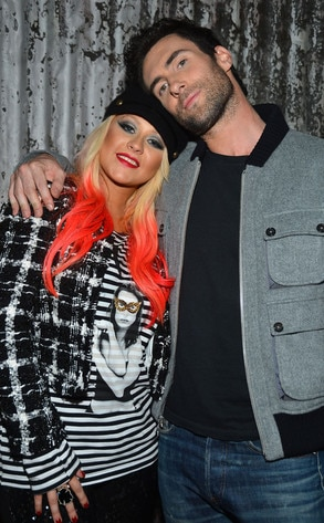 Christina Aguilera, Adam Levine, The Voice Judges