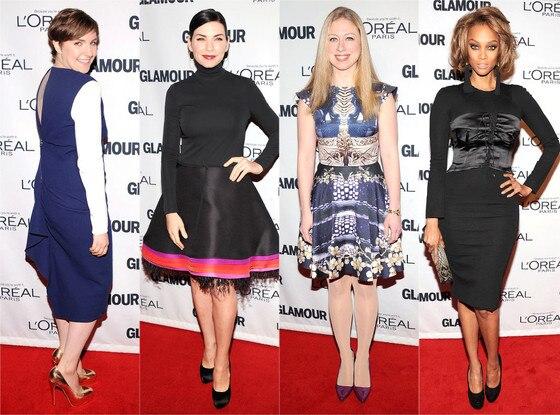 Lena Dunham, Julianna Margulies, Chelsea Clinton, Tyra Banks
