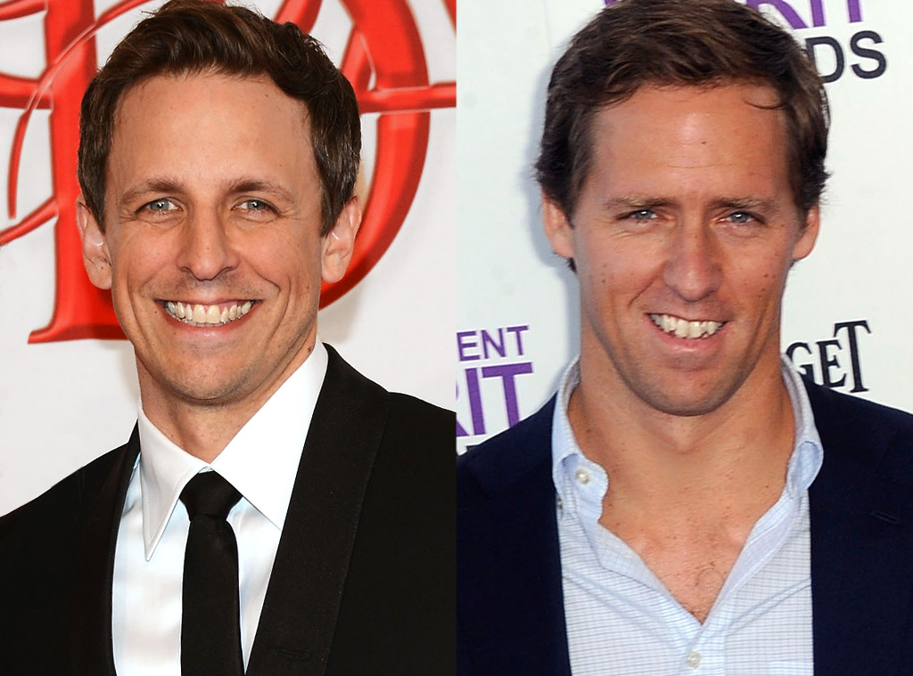 Seth Meyers Amp Nat Faxon From Celebrity Look Alikes E News